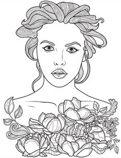 women coloring pages 904 Best Beautiful Women Coloring Pages for Adults images in 2019  women coloring pages