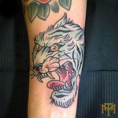 Tiger tattoo by Luke Smith from Trade Mark Tattoo Durban South Africa.