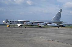 "B-52D in SAC ""Chrome Dome"" nuclear alert paint scheme"