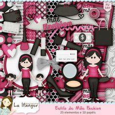 Kit Digital Estilo de Mãe Fashion by Lu Ifanger