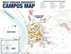 Downtown Campus Map Wvu.37 Best Tour Wvu Images Campus Map The Visitors College Life
