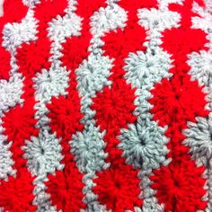 Catherine wheel stitch afghan I crocheted for an Ohio State fan, a friend of mine.