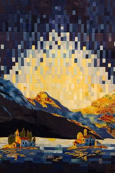 Islands in Bora by Ina Pavicevic (Belgrade, Serbia). 2016 Festival of Quilts…