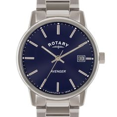 Rotary Avenger Blue Dial Stainless Steel - GB02874/05 | Rotary Watches