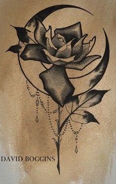 Rose moon tattoo                                                                                                                                                      More