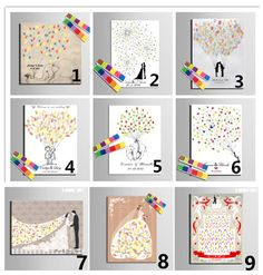 Fingerprint Wedding Guest Book Tree - Free Personalization (see description)