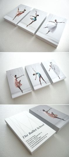Business cards for The Ballet School by A Beautiful Design.