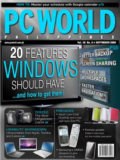 PCWorld Philippines September 2008 cover