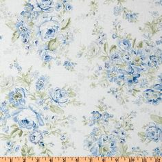 Treasures by Shabby Chic Wildflowers Large Floral Blue