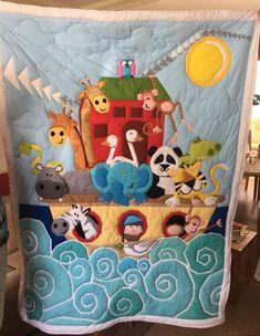 Noah's Ark Art Quilt