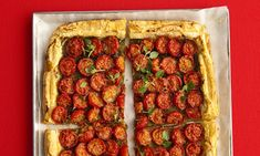 Food: Cherry tomato & pesto tart