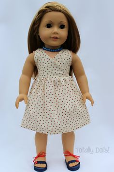 """""""Wish Upon A Star"""" Halter Dress with Shoes and Jewelry - $19.99  American Girl Doll Clothing http://www.totallydolls.com/apps/webstore/products/show/5767466"""