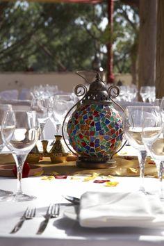 Moroccan lantern table centres