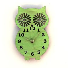 Hey, I found this really awesome Etsy listing at http://www.etsy.com/listing/130023963/wall-clock-modern-wooden-owl-silhouette