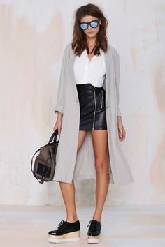 BB Dakota Caelyn Linen Coat | Shop What's New at Nasty Gal