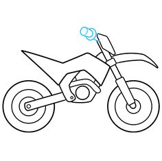 Dirt Bike Party, Bike Drawing, Coloring Tutorial, Retro Waves, Learn To Draw, Easy Drawings, Animal Drawings, Three Dimensional, Coloring Pages