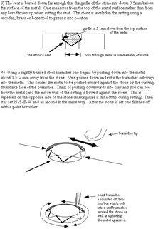 stone setting instructions: flush mount
