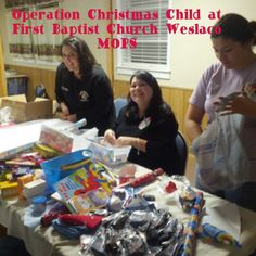 Operation Christmas child at mops