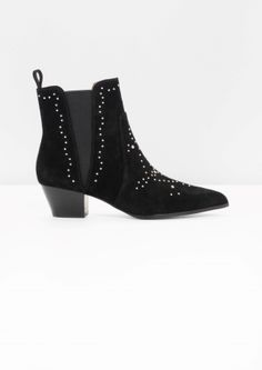 & Other Stories | Studded Western Chelsea Suede Boots