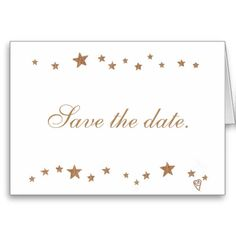 Lively Gold #Stars Save the Date Note Cards #SaveTheDate #SaveTheDateCards