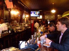 Drinks at P.J. Clark's. (Midtown East)