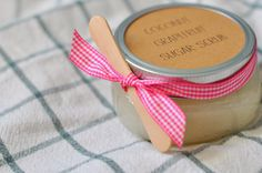teacher valentine gifts: diy coconut grapefruit sugar scrub - a pretty cool life.