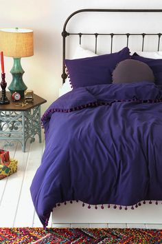 Magical Thinking Pom-Fringe Duvet Cover, #UrbanOutfitters Pin A Room, Win A Room Sweepstakes! #smallspace