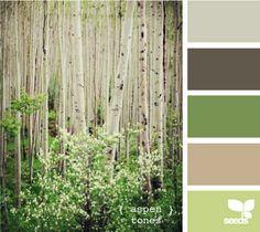 soft greens, birch