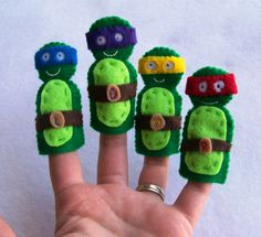 Teenage Mutant Ninja Turtle Finger Inspired Puppets