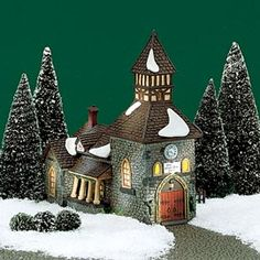 "Department 56: Products - ""The Olde Camden Town Church"" (Revisited) - View Lighted Buildings"