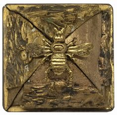 Museum Bee Collection by Trace Mayer. Made with Antique American Frames and Gilt Brass Ormolu Bee.