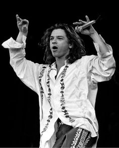 Michael Hutchence, 1988-06-27, Wembley Arena, by David McGough