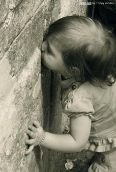 Wailing Wall, Jerusalem ... she is learning to appreciate her heritage!