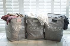 very nice, but expensive.wondering about a dyi-version.laundry sack by Rivièra Maison Laundry Storage, Laundry Hacks, Laundry Baskets, Laundry Rooms, Dyi, Rivera Maison, Cap Ferret, Self Serve, Villa