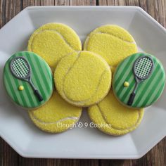 Tennis anyone? #decoratedcookies #customcookies #tennis
