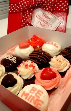 Valentine's Day Box of Cupcakes from New South Cupcakes