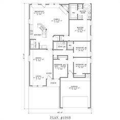 Plan #1948 Floor Plan {like much of the basics, but would modify a whole bunch in multiple areas}