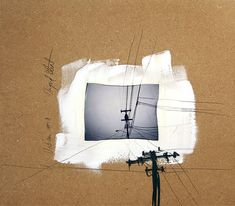 Urban Series - mixed media artwork polaroid emulsion lift and drawing via Etsy