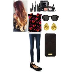 """Abstract top"" by alyrep3 on Polyvore"