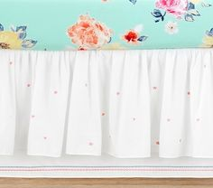 Junk Gypsy Star Dancer Crib Skirt, Ivory