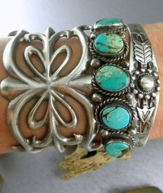 turquoise stacked cuff bracelets