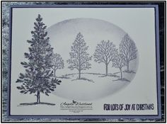Stampin' Up! Lovely As A Tree - Christmas Card