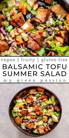 Summer Grilling Recipes, Easy Summer Meals, Spring Recipes, Summer Salads, Side Salad Recipes, Tofu Recipes, Tofu Salad, Marinated Tofu, Spring Salad