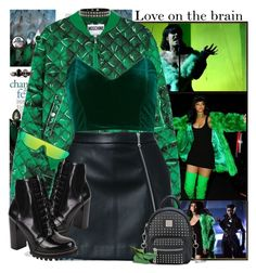 """Love on the brain!"" by hennie-henne ❤ liked on Polyvore featuring Madewell, Moschino, Topshop, Guild Prime, Jeffrey Campbell, Jack Vartanian, Alexander McQueen and Joan Hornig"