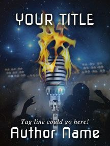Song on Fire - Musical - Customizable Book Cover  SelfPubBookCovers: One-of-a-kind premade book covers where Authors can instantly customize and download their covers, and where Artists can post a cover and name their own price.