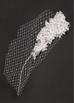 Elegant Lace Flowers Wedding Bridal Fascinator, Bride headband!