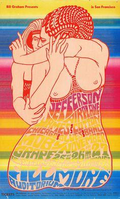 Jefferson Airplane/James Cotton Blues Band/Moby Grape, November 25 - 27, 1966 - Fillmore Auditorium (San Francisco, CA) Art by , Wes Wilson