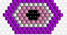 BISUTERIA DE NCALL100: PATRON PULSERA OJO TURCO Mori Girl, Brick Stitch, Bead Patterns, Loom Beading, Yolo, Free Pattern, Nail Polish, Inspirational, Beads