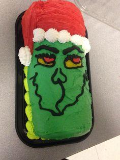 Grinch log cake
