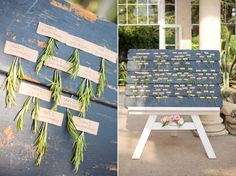 Rustic table plan with rosemary | Photography by http://www.emmasekhon.com/